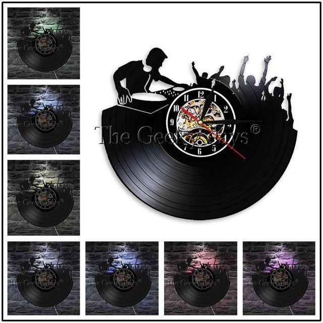 I'm Lovin' It Vinyl Record Wall Clock Classic Hip Hop Disk DJ Turntable Wall Clock Modern Wall Watch Home Decor