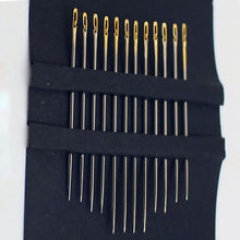 Load image into Gallery viewer, Open Eye Needles 12 Pcs Gold
