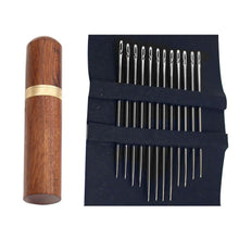 Load image into Gallery viewer, Self Threading Needles 12 Pcs With Wooden Container