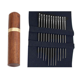 Self Threading Needles 12 Pcs With Wooden Container