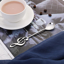 Load image into Gallery viewer, Musical Note Spoon Coffee Tea Spoon