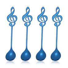 Load image into Gallery viewer, Musical Note Spoon Coffee Tea Spoon Blue