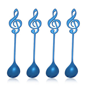 Musical Note Spoon Coffee Tea Spoon Blue