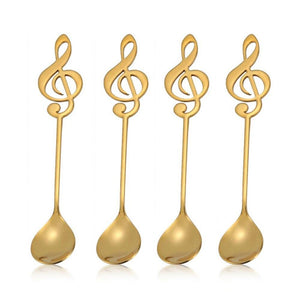 Gold Musical Note Spoon Coffee Tea Spoon