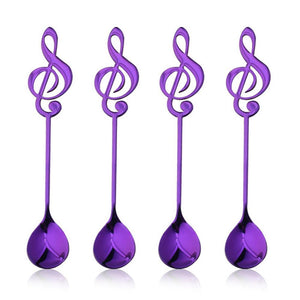Purple Musical Note Spoon Coffee Tea Spoon