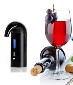 Black Color Electric Wine Aerator and Decanter.