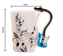 Load image into Gallery viewer, Creative Musical Violin Style Guitar Ceramic Mug Dimensions