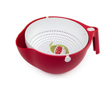 Load image into Gallery viewer, Double Drain Basket Bowl Washing Kitchen Strainer Red Color