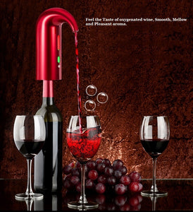Electric Wine Aerator, Dispenser and Decanter Rechargeable.