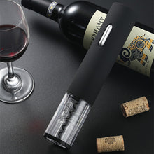 Load image into Gallery viewer, Matt Black Electric Wine Opener With Foil Cutter Cordless