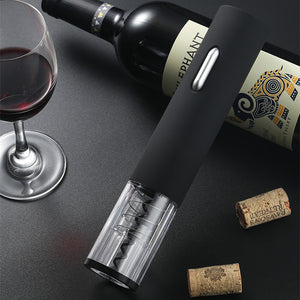 Matt Black Electric Wine Opener With Foil Cutter Cordless