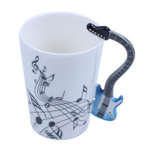Load image into Gallery viewer, Guitar Mug Premium Ceramic Coffee Mug Blue Limited Edition
