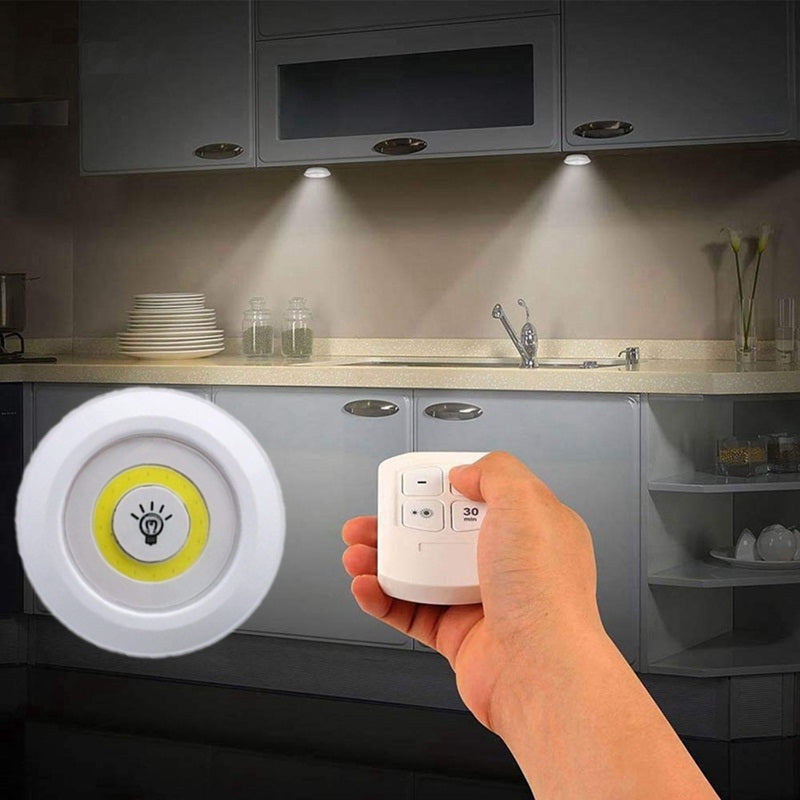 Puck Lights Battery Operated With Remote