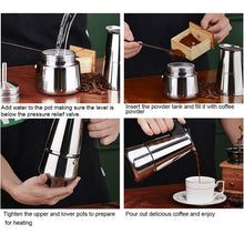 Load image into Gallery viewer, Stovetop Espresso Maker