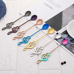 Stainless Steel Musical Notes Spoon Coffee Tea Spoon for children