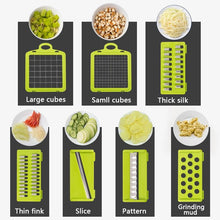 Load image into Gallery viewer, Vegetable Fruit Potato Masher Cutter Grater Slicer