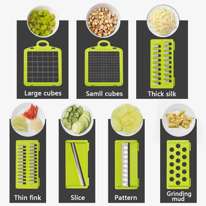 Vegetable Fruit Potato Masher Cutter Grater Slicer