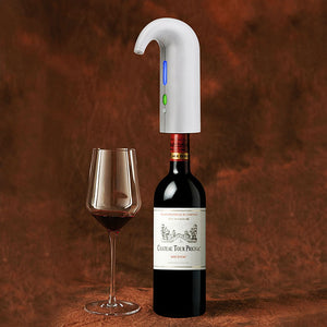 White Color Electric Wine Aerator and Decanter.