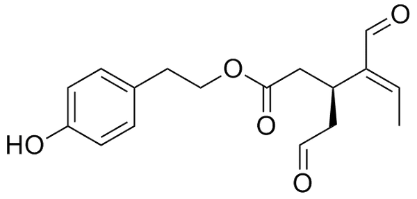 chemical structure of oleocanthal