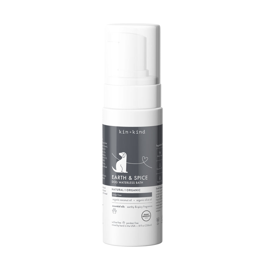 EARTH & SPICE (Waterless Foaming Shampoo for Dogs)