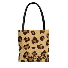 Without Music Life Would Be A Mistake Tote Bag - pop art blue/cheetah
