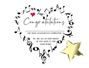 Music Certificate Award, Student Achievement