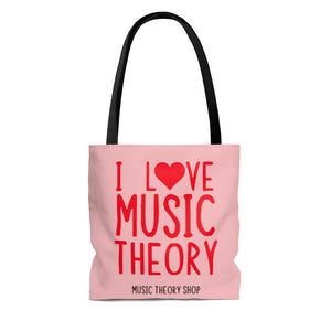 I ❤️ Music Theory Tote Bag - Music Theory Shop
