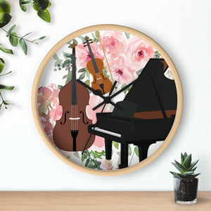 Music Studio Wall clock, Music Teacher, Music Lessons, Bass, Piano, Violin
