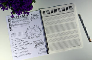 Music Theory Staff Paper™ Notebook - Music Theory Shop