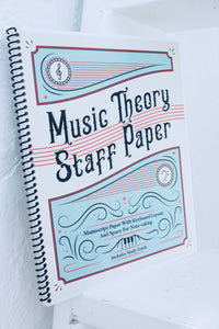 Music Theory Staff Paper™ Notebook