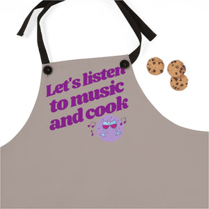 Let's Listen to Music and Cook Apron | Gift for Musician