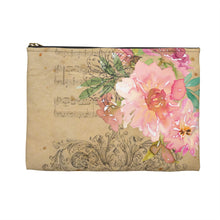 Vintage Music Pouch, Dreamy Flowers, Music Bag
