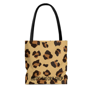 Without Music Life Would Be A Mistake Tote Bag - pop art/cheetah