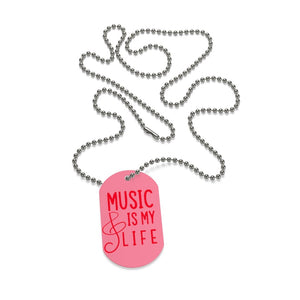 Music is my life Dog Tag Necklace - Music Theory Shop