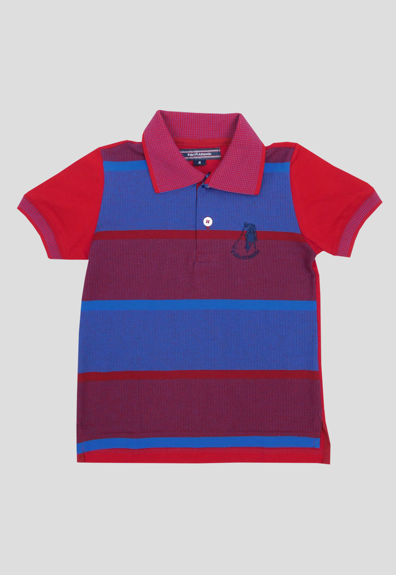 Polo exclusive scorlet azul para niño