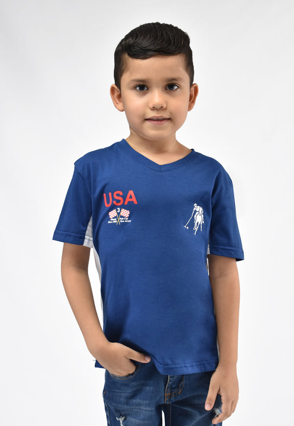 Camiseta racing azul estado para niño