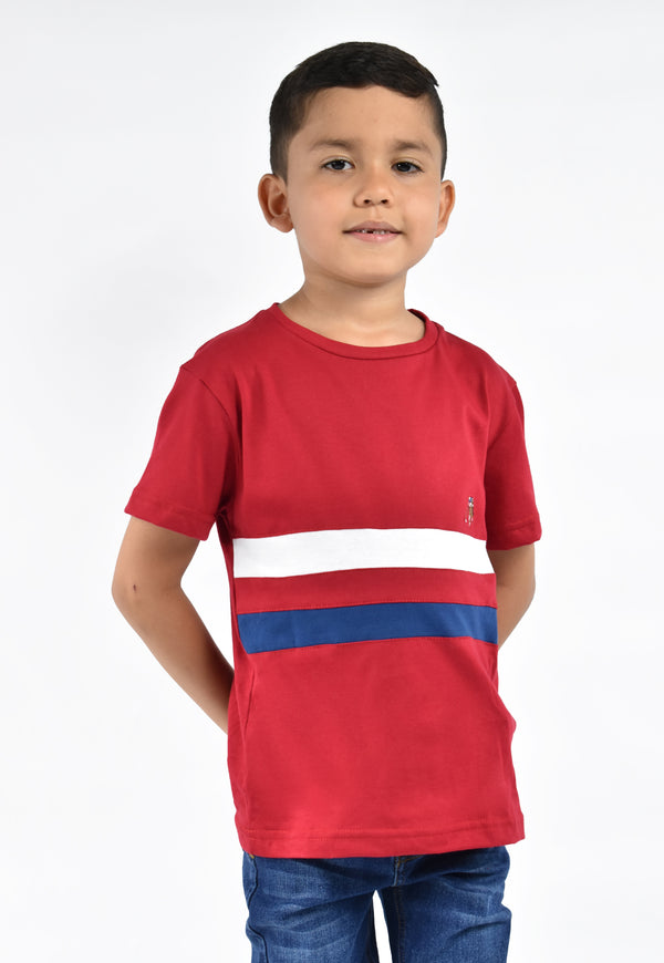 Camiseta smith rojo line para niño