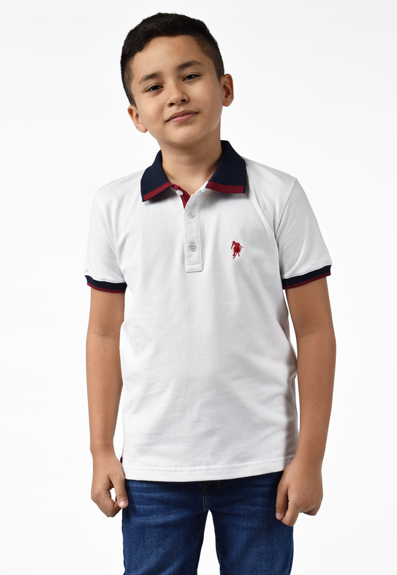 Polo light blanco para niño