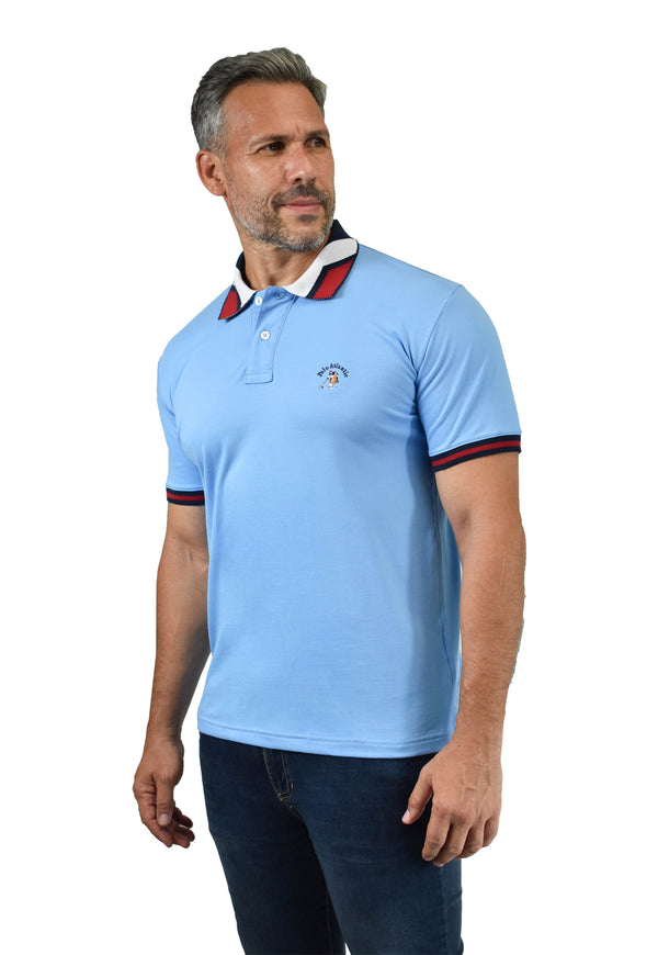 Polo Make little blue para hombre