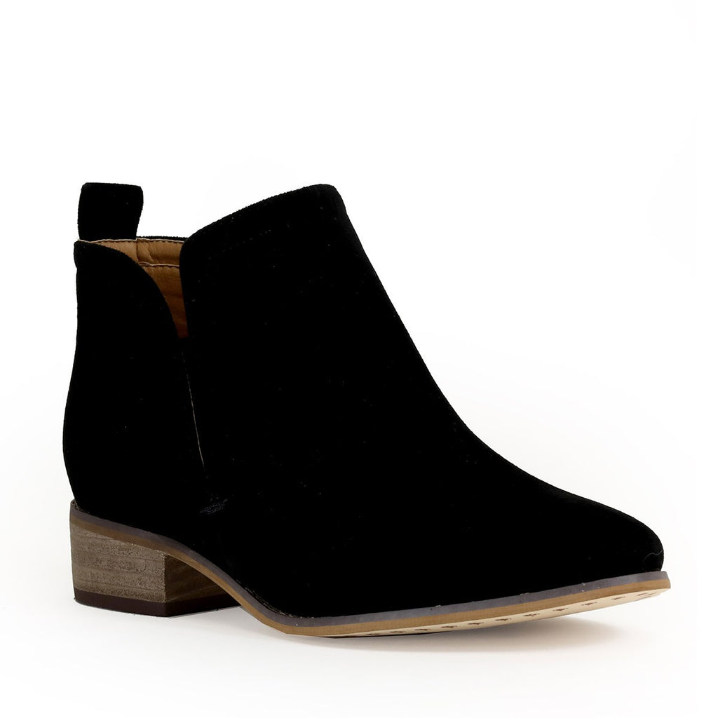 Side V-Cut Ankle Booties