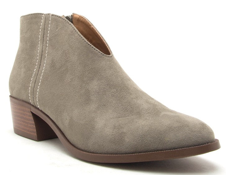 Front V-Cut Ankle Booties