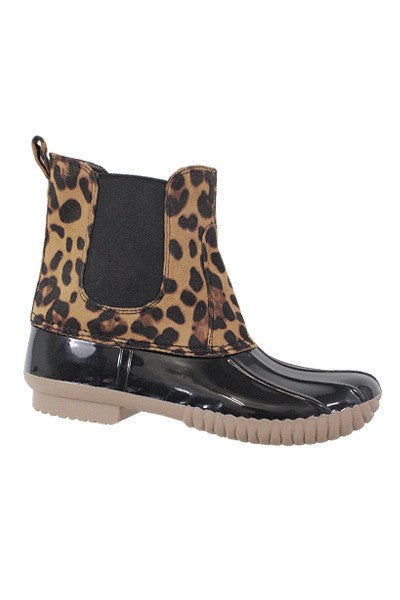 Leopard Chelsea Duck Boots