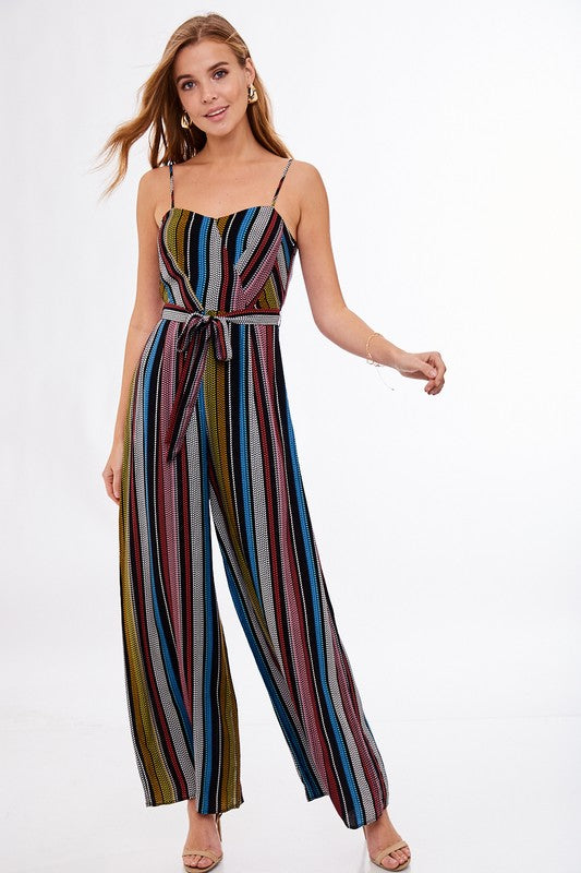 Cami Top Jumpsuit with Tie Waist