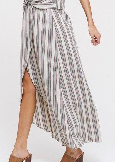 High Low Open Front Skirt