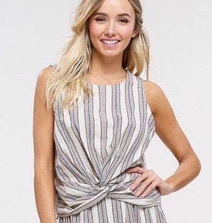 Front Knot Sleeveless Top