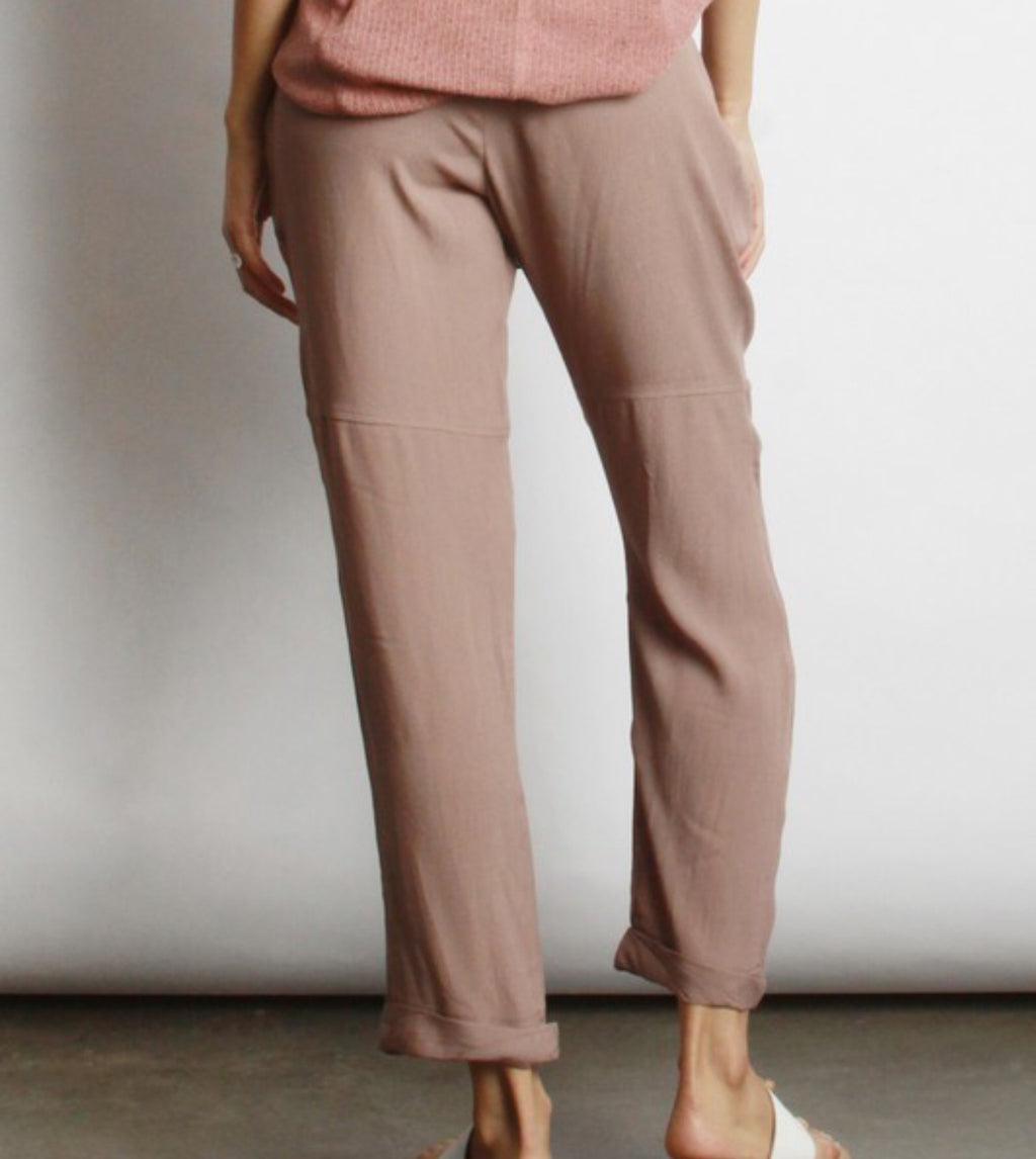 Drawstring Top Cropped Pants