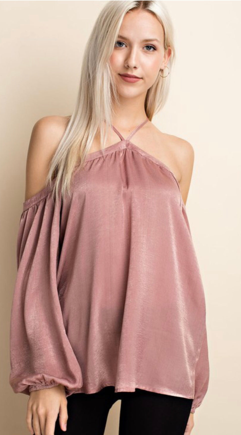 Off Shoulder Silk Top