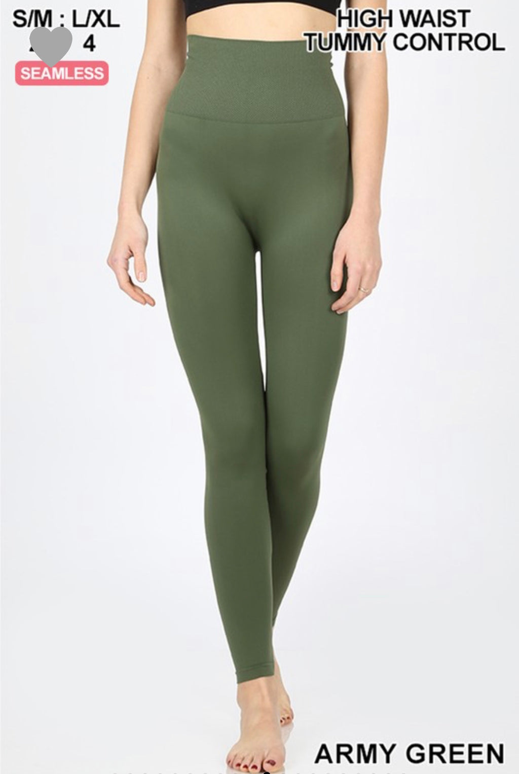 High Waisted Control Top Super Soft Leggings