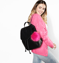 Load image into Gallery viewer, Faux Fur Pop Pom Key Ring