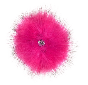 Faux Fur Pop Pom Key Ring